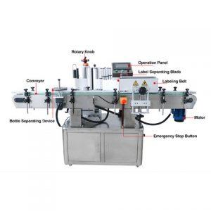 Organik Şarap Yan Etiketleme Makinesi